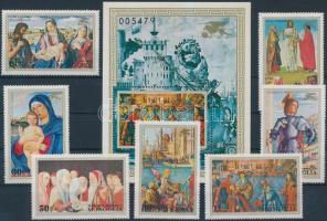 1972 Festmények sor Mi 722-728 + blokk 30