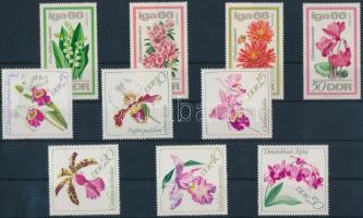 1966-1968 Virág 2 klf sor Mi 1189-1192, 1420-1425