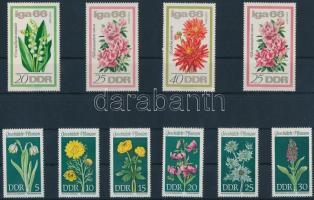 1966-1969 Virágok 2 klf sor Mi 1189-1192, 1456-1461