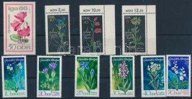 1966-1970 Virágok 1 db bélyeg + 2 klf sor Mi 1192, 1241-1244, 1563-1568