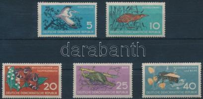 1959 Természetvédelem: állatok sor Mi 688-692
