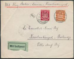 1924 Légi levél Konstantinápolyba / Airmamil cover from Berlin to Constantinople