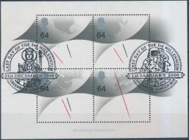 2000 Nemzetközi bélyegkiállítás blokk elsőnapi bélyegzéssel Mi 8