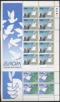 Europa CEPT, peace and freedom mini sheet set Europa CEPT, béke és szabadság kisív sor