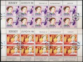 1996 Europa CEPT, híres nők kisív sor első napi bélyegzéssel Mi 735-736