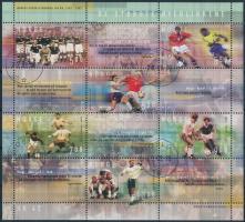 2002 100 éves a norvég labdarúgás blokk első napi bélyegzéssel Mi 23