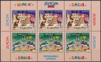 2002 Europa CEPT, cirkusz bélyegfüzetlap H-Blatt 5 (Mi 241D-242D)
