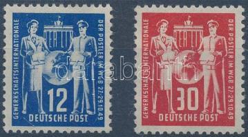 1949 Postaügyi szakszervezet ívszéli sor Mi 243-244
