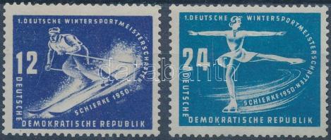 1950 Téli sportbajnokság sor Mi 246-247