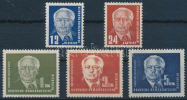 1950 Wilhelm Pieck elnök sor Mi 251-255