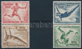 1936 Nyári Olimpiai 2 db bélyegfüzet fordított összefüggés Mi SK27, 28