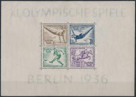 1936 Nyári Olimpiai blokk Mi 5 (ráncok / creases)