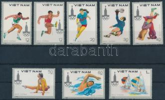 1980 Nyári olimpia sor Mi 1093-1100