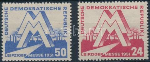 1951 Lipcsei tavaszi vásár sor Mi 282-283