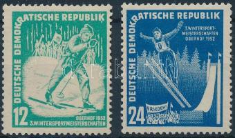 1952 Téli sport bajnokság sor Mi 298-299