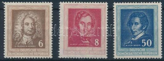 1952 Híres zeneszerzők sor Mi 308-310