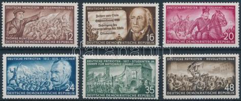 1953 Német hazafiak sor Mi 398-403
