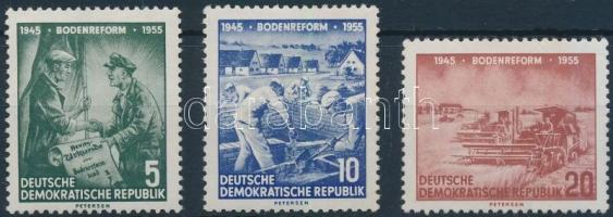 1955 10 éves a földreform sor Mi 481-483
