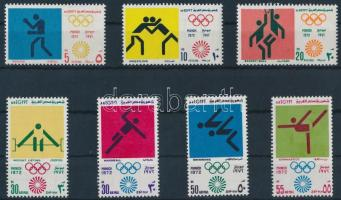 1972 Nyári olimpia sor Mi 1098-1104