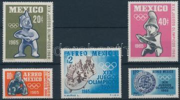 1965 Nyári Olimpia sor Mi 1192-1196