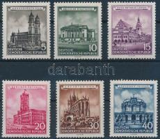 1955 Felújított történelmi épületek sor Mi 491-496