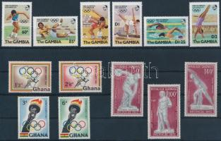 1960-1984 Olympics 3 diff sets, 1960-1984 Olimpia motívum 3 klf sor