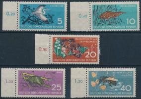 1959 Természetvédelem ívszéli sor Mi 688-692