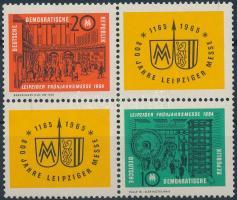 1964 Lipcsei vásár sor 4-es tömbben Mi 1012-1013