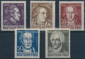 1949 Goethe sor Mi 234-238