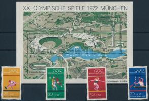 1972 Olimpia sor Mi 734-737 + blokk Mi 7