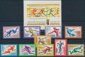 Summer Olympics 2 sets + block, Nyári olimpia 2 klf sor + blokk
