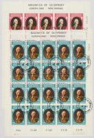 1980 Europa CEPT: híres emberek kisívsor Mi 204-205