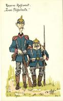 Reserve-Regiment, Zwei Flügelleute / German reserve soldiers, Német tartalékos katonák
