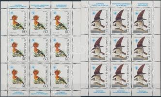 Nature Protection: Birds mini sheet set, Természetvédelem: Madarak kisívsor