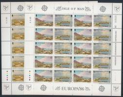 1986 Európa: Természet- és környezetvédelem kisívsor Mi 307-310