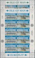 1987 Europa CEPT: Modern épületek kisívsor Mi 335-338