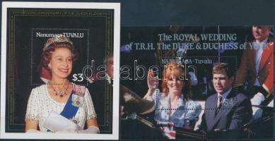 1986-1987 Queen Elizabeth II 2 diff blocks 1986-1987 II. Erzsébet királynő 2 klf blokk