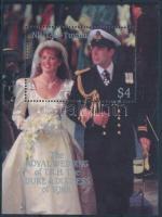 Prince Andrew and Sarah Ferguson's wedding block Andrew herceg és Sarah Ferguson esküvöje blokk