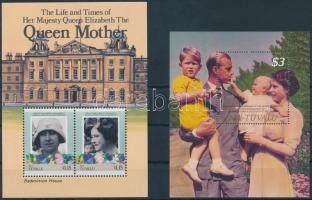 1985-1987 Queen Elizabeth II 2 diff blocks, 1985-1987 II. Erzsébet királynő 2 klf blokk