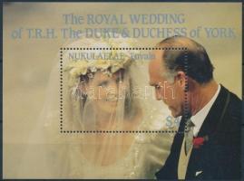 1986 Andrew herceg és Sarah Ferguson esküvője blokk Mi 5