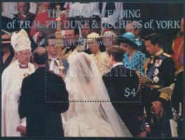Prince Andrew and Sarah Ferguson's wedding block Andrew herceg és Sarah Ferguson esküvője blokk