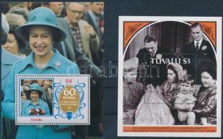 1986-1987 Queen Elizabeth II 2 diff blocks, 1986-1987 II. Erzsébet királynő 2 klf blokk