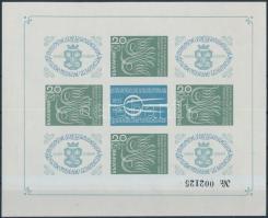 1968 Nemzetközi Bélyegkiállítás vágott kisív Mi 145