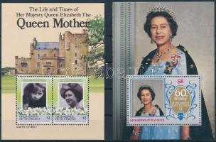1985-1986 Queen Elizabeth 2 diff blocks, 1985-1986 II. Erzsébet királynő 2 klf blokk