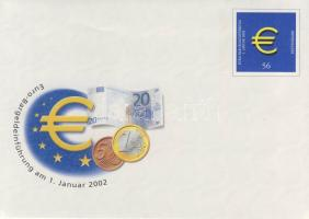 2002 Az Euro bevezetése alkalmi boríték+használatlan díjjegyes boríték