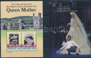 1985-1986 Rolya wedding, Queen Elizabeth II 2 diff blocks, 1985-1986 Andrew herceg és Sarah Ferguson esküvője, II. Erzsébet királynő 2 klf blokk