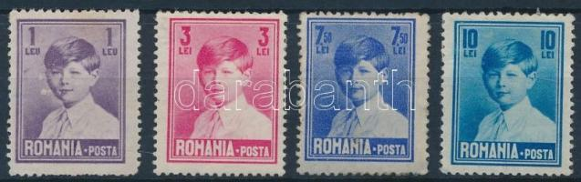 Definitive 4 stamps, Forgalmi 4 érték
