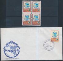 1980 Rotary négyestömb Mi 1863 + FDC
