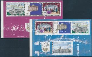 Dublin- European Capital of Culture 2 stamp-booklet sheet, Dublin- Európa kultúrális fővárosa 2 db bélyegfüzet-lap