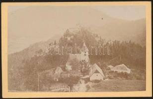 1875 Semmering keményhátú fotó. / Autria Semmering, Klamm vintage photo 7x11 cm